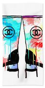 Colored Chanel Boots Bath Towel