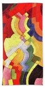 Colored Forms IIi By August Macke Bath Towel