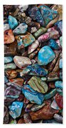 Colored Polished Stones Bath Towel