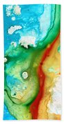 Colorful Abstract Art - Captured - By Sharon Cummings Bath Towel