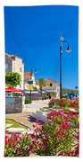 Colorful Adriatic Town Of Rogoznica Bath Towel