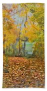 Colorful Autumn Trail Bath Towel