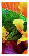 Colorful Chameleon Bath Towel
