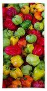 Colorful Chili Pepper Bath Towel