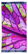 Colorful Coleus Abstract 3 Bath Towel