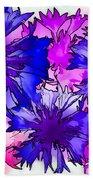 Colorful Cornflowers Bath Towel