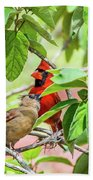 Colorful Couple Hand Towel
