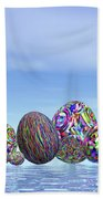 Colorful Eggs For Easter - 3d Render Bath Towel