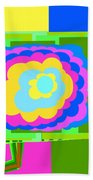 Colorful Flower  Bath Towel