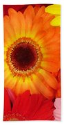 Colorful Gerber Daisies Bath Towel
