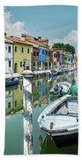 Colorful Homes Of Burano Bath Towel