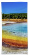 Colorful Hot Spring In Yellowstone Bath Towel