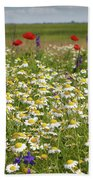 Colorful Meadow With Wild Flowers Bath Towel