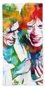 Colorful Mick And Keith Bath Towel