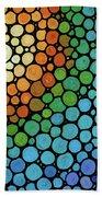 Colorful Mosaic Art - Blissful Bath Towel