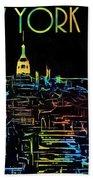 Colorful New York City Skyline Bath Towel