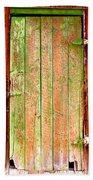 Colorful Old Barn Wood Door Bath Towel