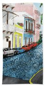 Colorful Old San Juan Bath Towel