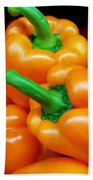 Colorful Orange Bell Peppers Bath Towel
