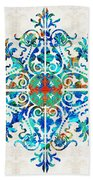Colorful Pattern Art - Color Fusion Design 5 By Sharon Cummings Bath Towel