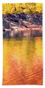Colorful Reflections Hand Towel