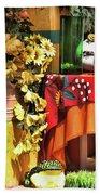 Colorful Restaurant Bucerias Bath Towel