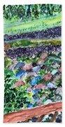 Colorful Rock Garden Bath Towel