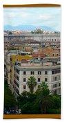 Colorful Rome Cityscape Bath Towel