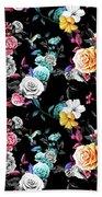 Colorful Roses Bath Towel