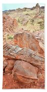 Colorful Sandstone In Wash 3 - Valley Of Fire Bath Towel