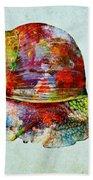 Colorful Snail Art  Bath Towel