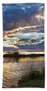 Colorful Snake River Bath Towel