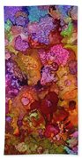 Colorful Spring Garden Bath Towel