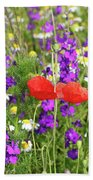 Colorful Spring Wild Flowers Bath Towel