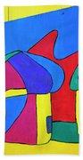 Colorful Street Art Bath Towel
