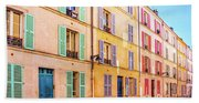 Colorful Street In Paris Hand Towel