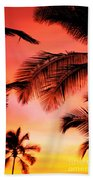 Colorful Sunset Bath Towel