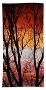 Colorful Tree Branches Bath Towel