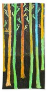Colorful Trees Bath Towel