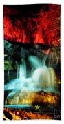 Colorful Waterfall Bath Towel