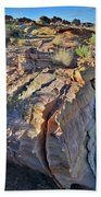 Colorful Wave Of Sandstone In Valley Of Fire State Park Bath Towel