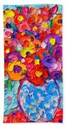 Colorful Wildflowers - Abstract Floral Art By Ana Maria Edulescu Bath Towel