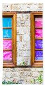 Colorful Windows Hand Towel by Tom Gowanlock