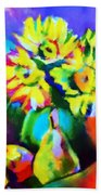 Colors, Pears And Flowers Bath Towel