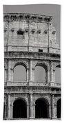 Colosseum Or Coliseum Black And White Bath Towel