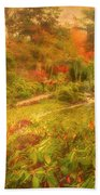 Colour Explosion In The Japanese Gardens Bath Towel