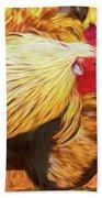 Colourful Hen Bath Sheet