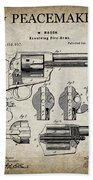 Colt .45 Peacemaker Revolver Patent  1875 Hand Towel