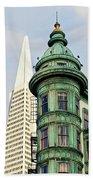 Columbus Avenue - San Francisco, California Bath Towel