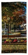 Columbus Day In The Park Hand Towel